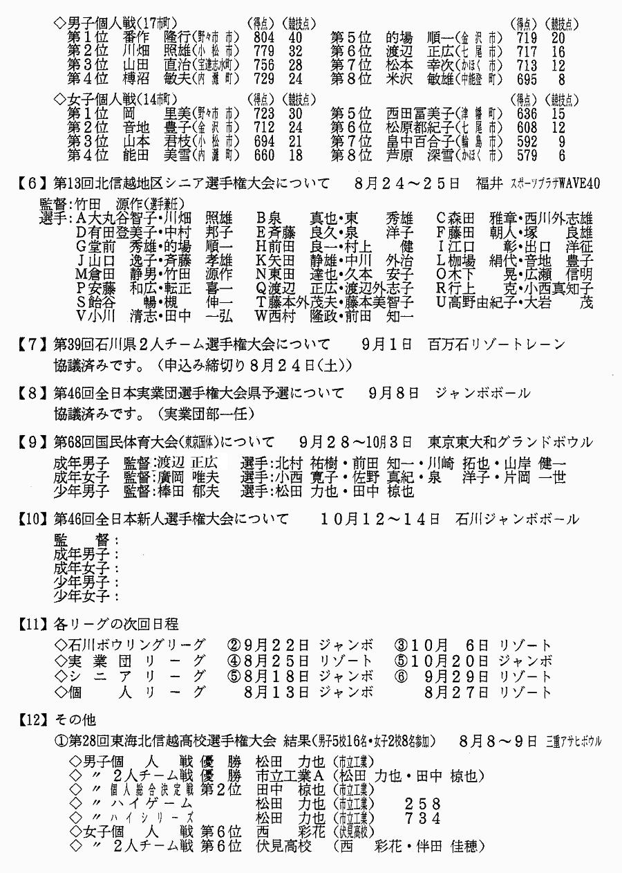 石川県ボウリング連盟 2013年8月度 月例連絡会議_02