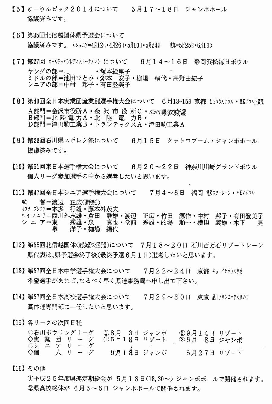 月例連絡会議 2014年5月02